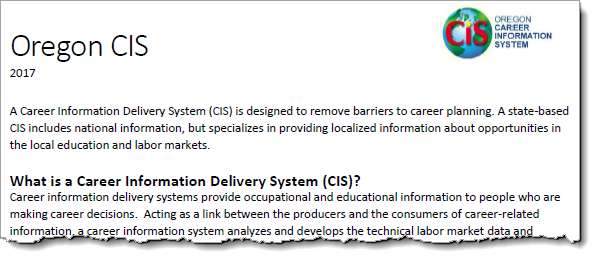 What is a Career Information System?
